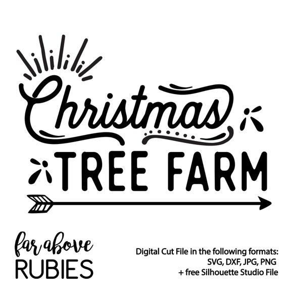Items similar to Christmas Tree Farm word art - SVG & DXF ...