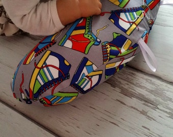 Organic Tummy Time Pillow, Sneakers
