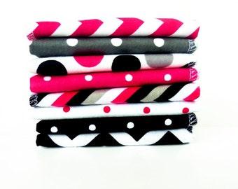 Ladies Handkerchief Set Chevron Modern Womens Handkerchief -Flannel Hankies -Reusable Tissues Flannel Reusable Kleenex -Mothers Day Gift