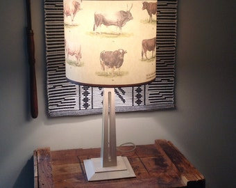 Cattle chart lamp shade cows