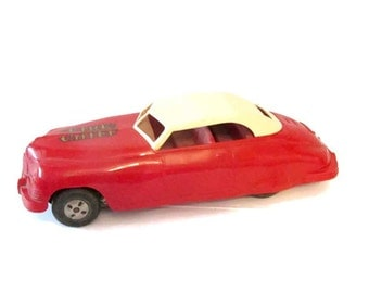 Vintage Marx Fire Chief Packard toy car - Friction car - 10 inches - Circa 1940s