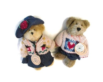Vintage Boyds Bears Bailey and Matthew plush set - 1996 - 8 inches tall - Fully costumed