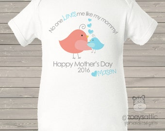 Mother's Day bodysuit - personalized first mothers day gift from baby boy (or any age!)