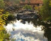Landscape Photography, Clouds, Reflection, Woodland, Creek, Fine Art Photography Print