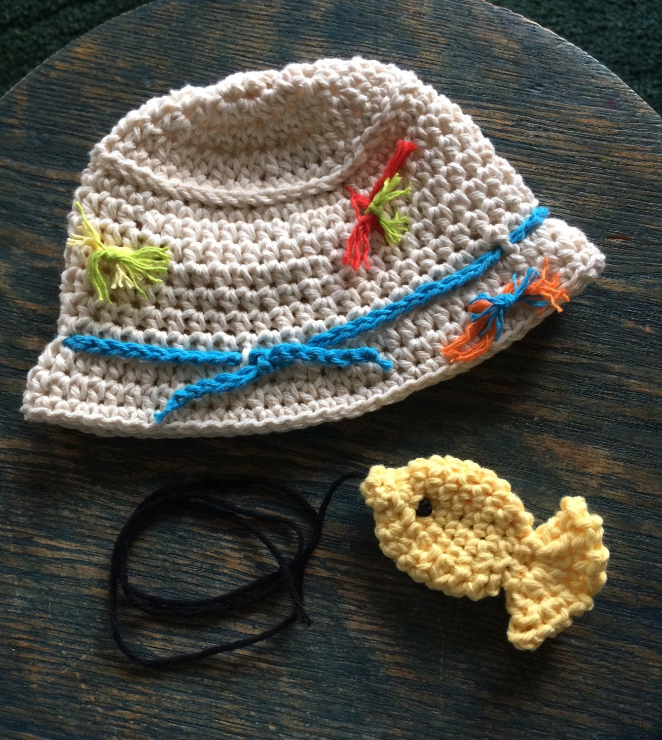Baby fishing hat with cotton lures 1 cotton by for Baby fishing hat
