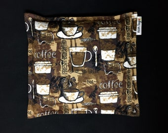 Flannel Corn Heating Pad, Corn Bag, Microwave Heating Pad, Heated Bag, Relaxation Gift, Ice Pack, Get Well Gift, Coffee Lover Gift