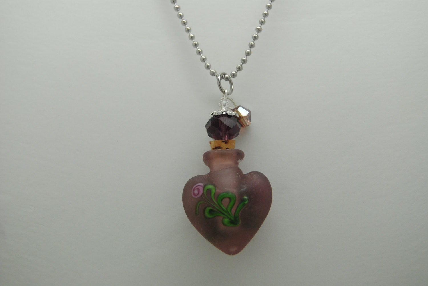 cremation jewelry purple urn necklace by