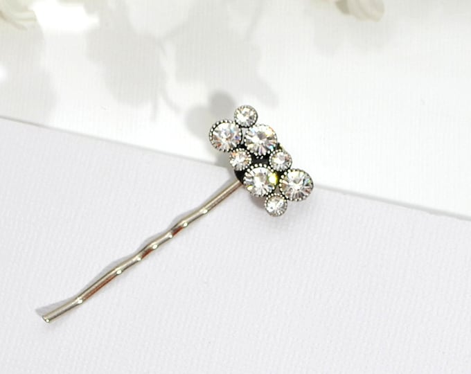 Crystal Bobby Pin Crystal Hair Pin Simple Hair Pins Small Hair Pin Handmade