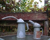 Pair of Galvanized Oil Cans