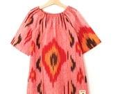 Phoenix - Woven Ikat Girls Dress - SAMPLE - Size 3-4 years