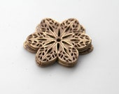 Dusty Rose Gold Alloy Filigree Flower Stamping Findings 31mm (8)