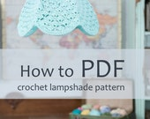 crochet lampshade PDF pattern, step by step DIY pattern ready to download by Babytogo