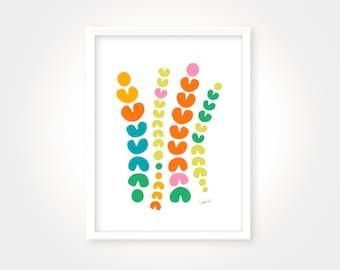 Colorful Abstract Art Print, House Warming Art Print, Vibrant Wall Art, Kitchen Art Print