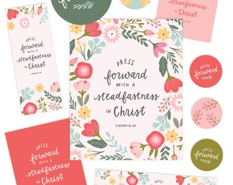 2016 LDS Mutual Theme - Young Women Printable Package - Hand Lettering by Alexa Zurcher - Girls Camp - Wall Art - Mormon Quote - AZ106