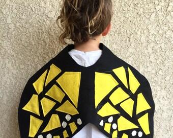 Butterfly Cape, Kids Halloween Butterfly Costume, Monarch Butterfly Wings
