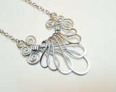 VICTORIAN FAN NECKLACE - Choose your own Color