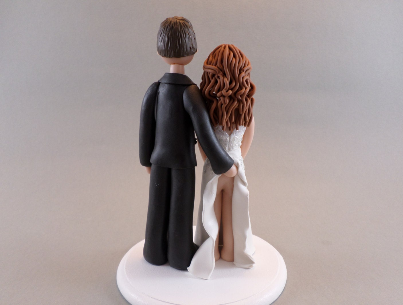 Unique Cake Toppers Bride & Groom Customized y Wedding