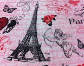 Eiffel Tower Fabric Fleur De Lis Fabric Angel Fabric Pink Paris Is For Lovers Fabric Joann Exclusive Retired Crowns Butterflys 2 Yards