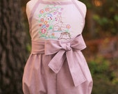 Girls Easter, Girls Spring, Girls Romper, Girls Sunsuit, Toddler, Easter Outfit, Special Occasion Outfit