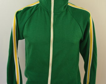Vintage WARM UP Brand Creslan Acrylic zip up SWEATSHIRT 1960's usa sz. Medium Packers colors!