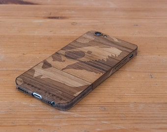 Laser-Etched Wood iPhone Case - Jurassic Bark - Lumber Armor - Fits iPhone 6, 6S, SE, 6+ / 6S+, 5S / 5