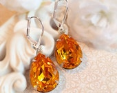 Marigold Earrings - Spring Accessories - Best Bridesmaid Gifts - Victorian Earrings - CAMBRIDGE Marigold