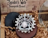 Spiders Web Limited Steampunk Pin