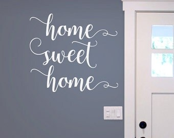 Home Sweet Home decal, vinyl wall decal, farmhouse decor, home sweet home entryway decal
