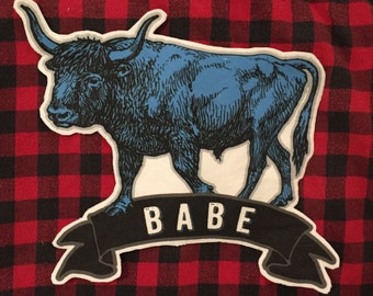 Babe (the blue Ox) Paul Bunyan large back patch folk tale lumberjack midwest