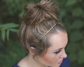 Thin Gold Headband. Brass Headband. Thin Wire Headband. Classic Hair Accessory. Gold Headband. Boho Bridal. Modern. Miniamal. Gift for Her.