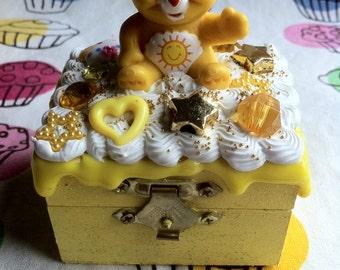 Extra Small Jewelry Box Care Bear Funshine Bear