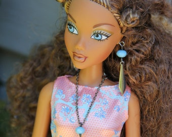 Tribal African Native American Doll Necklace and Earring Set for 11 1/2 - 12 inch 1/6th Scale Fashion Dolls
