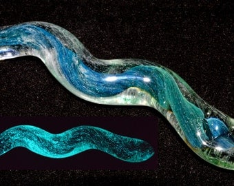 Glass Snake Spirit Totem with Rune Sowelu of Wholeness - Handblown - Made to Order