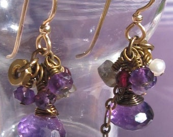 fatdog Toolbox Collection Earrings - TBE222 Amethyst Onion