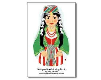 Matryoshkas (N) Coloring Book PDF
