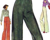 High-Waisted Slacks! Vintage 1970s Very Easy Vogue Sewing Pattern 9546, Women's Pants, Size 39, Uncut with Factory Folds