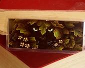 Nature Cat Bookmark, Black Cat Greenman Face Leaves Paper Bookmark