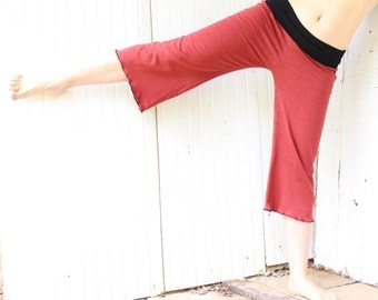 Hemp Guachos - Yoga Pants - Hemp and Organic Cotton Knit - Made to Order - Choose Your Color