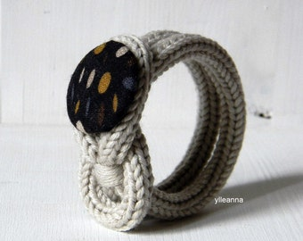 Wool bracelet - Minimalist bracelet - Gift for her - Sand, charcoal grey, saffron - made in Italy