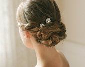 Crystal hair pins, rhinestone hair comb, bridal hair pins, bridal bobby pins, wedding hair pins, bandeau birdcage veil - style 138