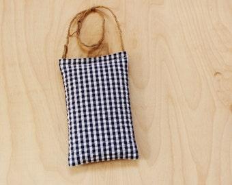 Blue Gingham Lavender Sachet. Car Air Freshener. Summer Door Hanger. Summer Decor