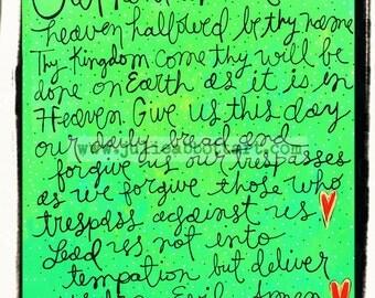 "The Lord's Prayer- New!  ""Mini-s"" by Julie Abbott Art"