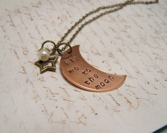 Fly Me to the Moon Necklace.  Love. Romance. Frank Sinatra