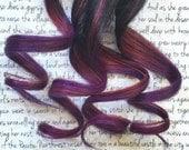 the H A R V E S T . harvest OMBRE and layer hair extension accent clip in 100% human hair brown black purple burgundy fall autumn