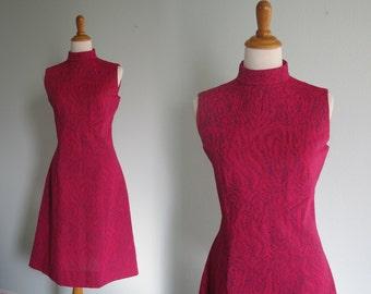 Vintage 1960s Dress - Mod Pink Scooter Dress - 60s Pink Dress L