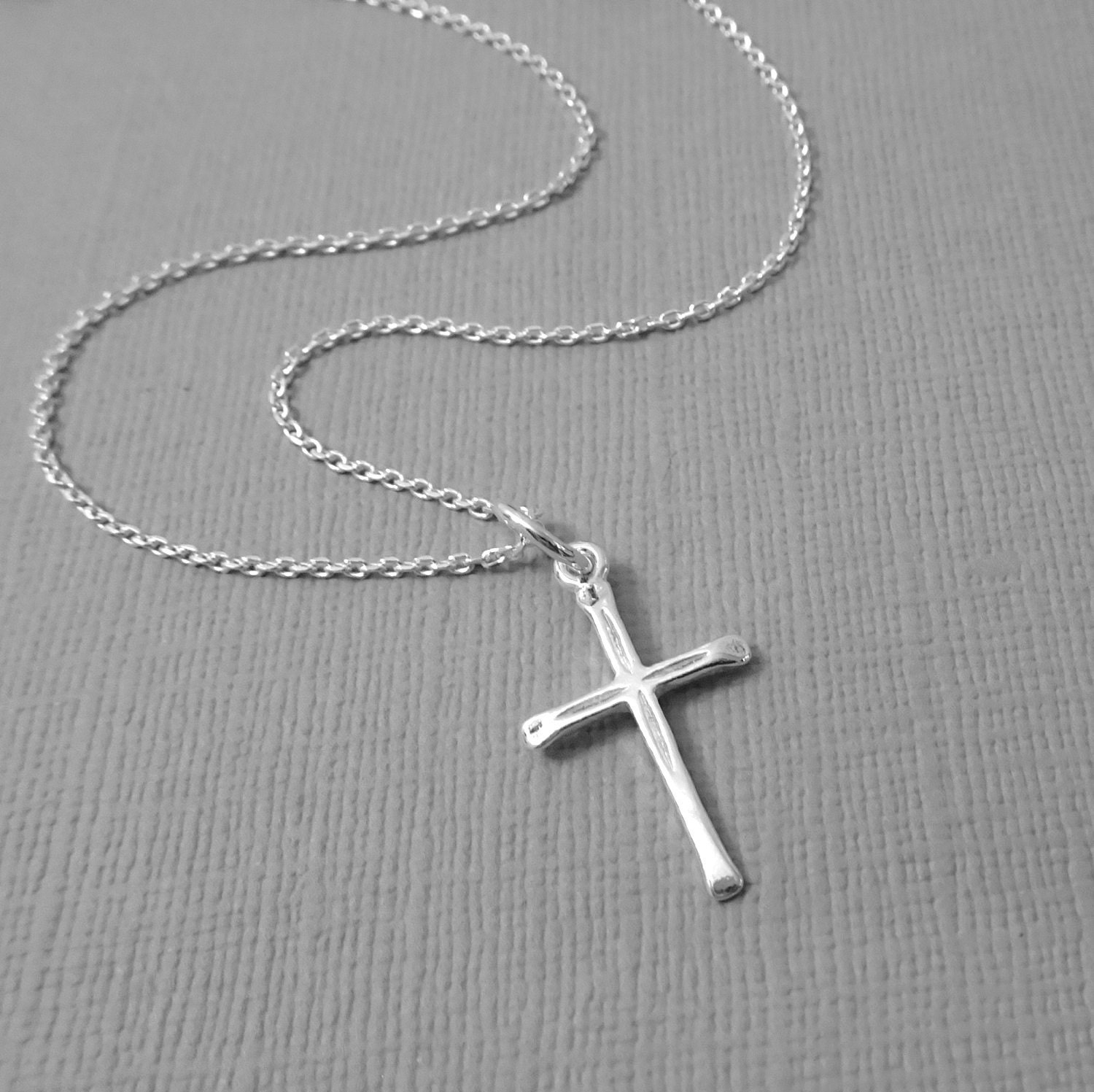 simple silver cross necklace sterling silver cross necklace. Black Bedroom Furniture Sets. Home Design Ideas