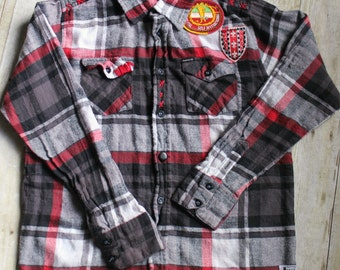 Handmade Kid's Recycled California Republic Flannel