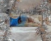 Blue Bird Ornament Antique Chandelier Prisms - Blue Bird Crowned