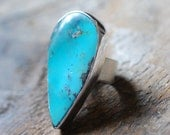 American Turquoise Ring Morenci Turquoise