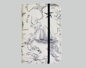 Kindle Cover Hardcover, Kindle Case, eReader, Kobo, Kindle Voyage, Kindle Fire HD 6 7, Kindle Paperwhite, Nook GlowLight Sailing Map